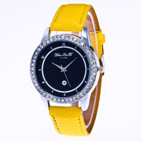 Unisex Quartz Leather Analog Wrist Simple Watch Round Case Watch