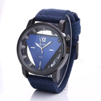 Military Mens Quartz Army Watch Triangle Dial Luxury Sport Wrist Watch
