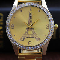 Metal Bracelet Quartz Bracelet Gold Bracelet Crystal Diamond Gold Watch