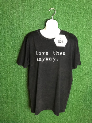 Love Them Anyway Unisex Mineral Wash Tee