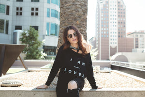 I Am Loved Off Shoulder Long Sleeve