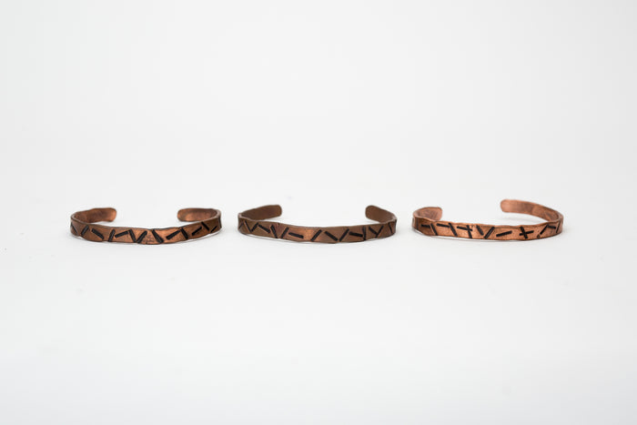 Cause & Effect Hand Hammered Copper Bracelet