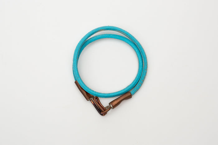 Cause & Effect Double Wrap Bracelet-Blue