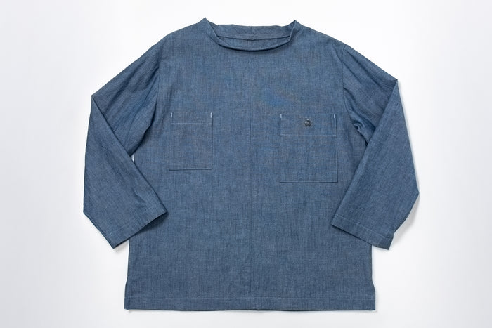 Beaux Biens Smock Popover- 100% Cotton Chambray