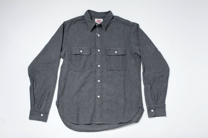 Battenwear Work Shirt Grey Herringbone Flannel