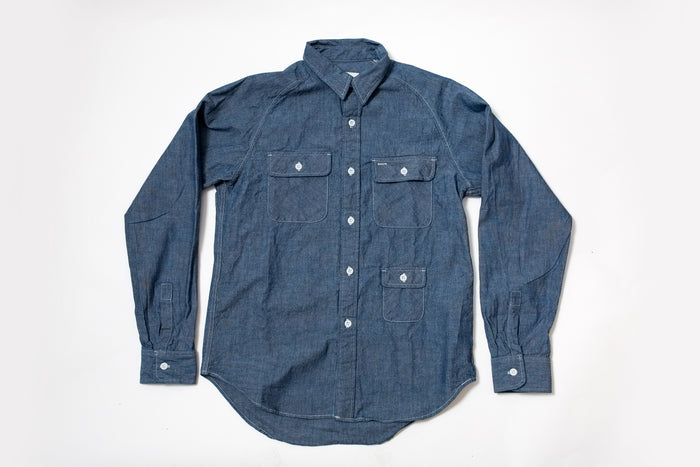 Battenwear Camp Shirt Chambray 100% Cotton