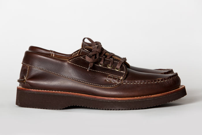 Maine Mountain Moccasin- Blucher Moccasin-Dark Brown Chromexcel w/Vibram 2060 Brown