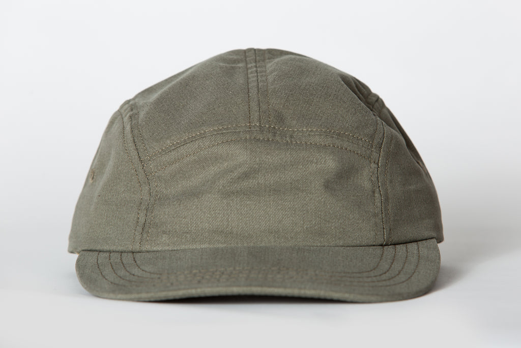 Beaux Biens 5 Panel Cap Sanded Twill Olive