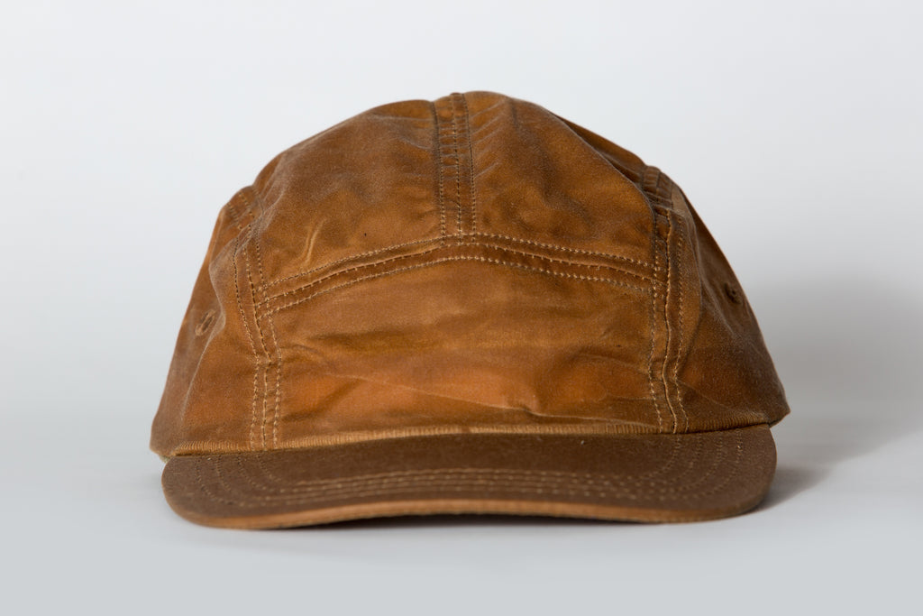 Beaux Biens 5 Panel Cap English Tan Wax Cotton