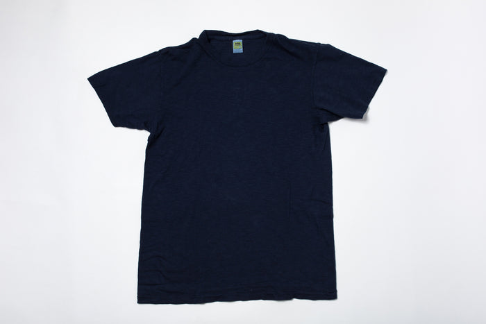 Velva Sheen Rolled T-Shirt-Navy