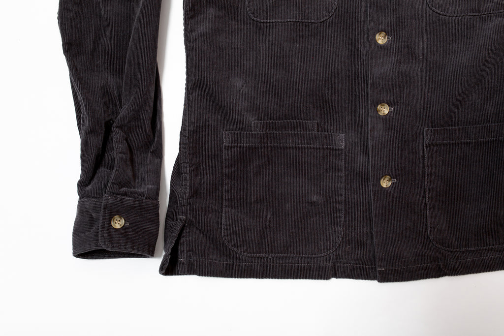 Battenwear 5 Pocket Canyon Shirt Charcoal 14-Wale Corduroy