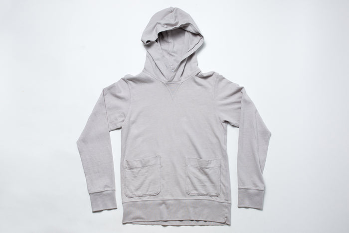 Velva Sheen Pullover Hoodie-Light Grey