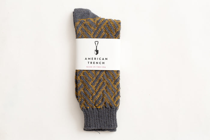 American Trench Exploded Herringbone-Grey/Yellow