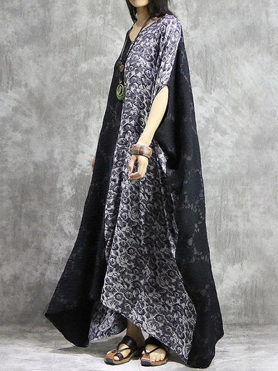 Loose Cotton Split-joint Long Robe
