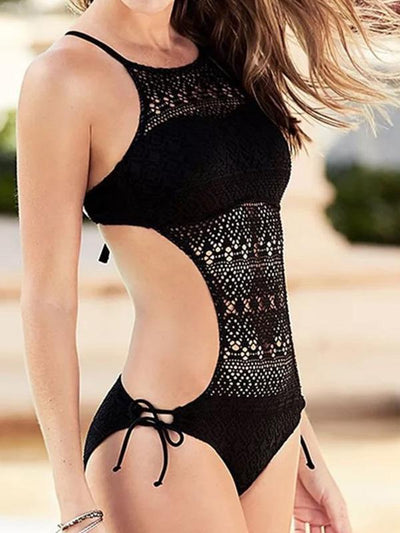 Sexy Hollow One-piece Swimwear
