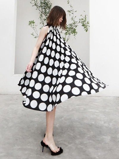 Chiffon Split-joint Polka-Dot Short Dress