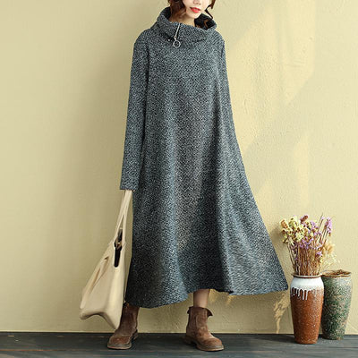 Winter Loose Turtleneck Casual Dress For Women
