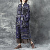 Woolen Women V Neck Shoulder Sleeve Loose Cardigan Printing Coat