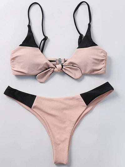Light Pink Reverse to Black Bikinis Swimwear