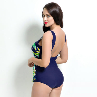 1689 PRINTING PLUS SIZE ONE-PIECE SWIMSUIT