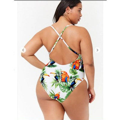 large-size printed swimwear fat ONE-PIECE SWIMSUIT