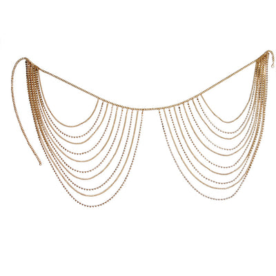 Simple geometry water drill multi-layer fringe body chain