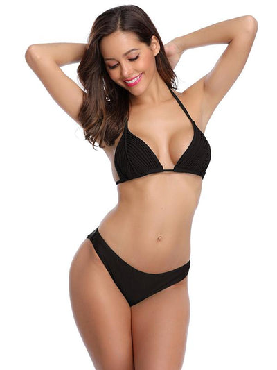 Triangle Plain Bikini Set
