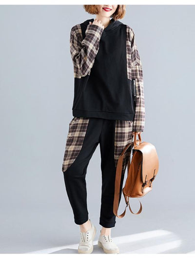 CASUAL PLAID SPLIT-JOINT SUITS