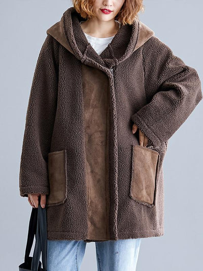 LOOSE SPLIT-JOINT LAMB OUTWEAR