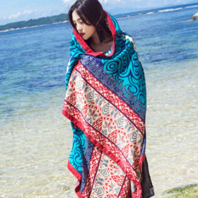 Holiday Women Printing Ethnic Green Scarf
