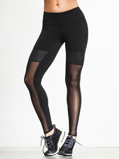 Hollow Split-joint Wrap Solid Yoga Leggings