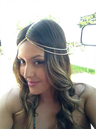 Simple Double Layer Metal Tassel Headband Hair Accessory