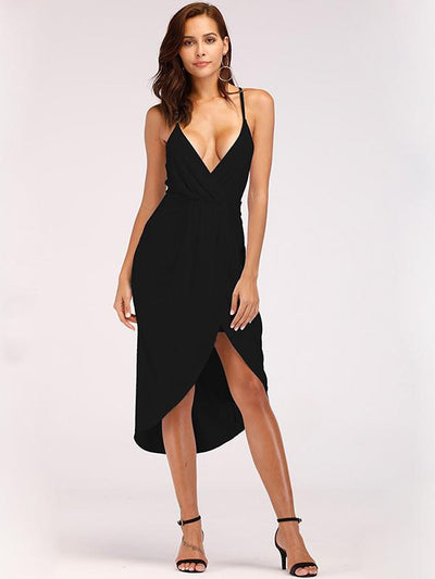 Sexy V-neck Irregular Dress