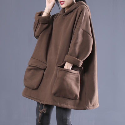 Buykud Casual Solid Color Thickened Plus Velvet Coat