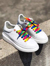 Colorful Lace-Up Casual Shoes