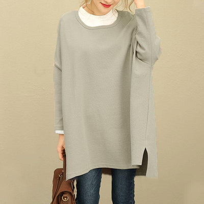Fall Winter Retro Women Hedging Loose Long Sleeve Shirt