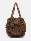 Crochetting Flower Knitting Bag