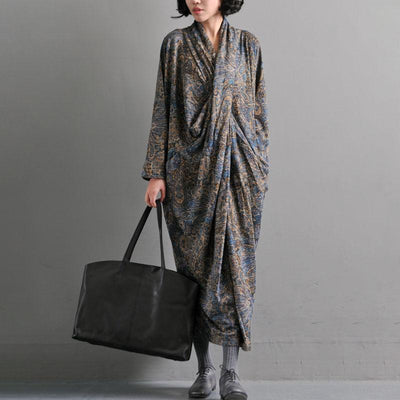 Women's Retro Printing Dress Autumn Dresses