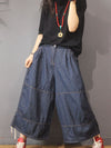 LOOSE WIDE-LEG JEAN PANTS