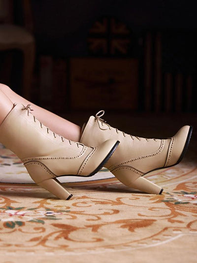 Fashion Bandage High-heel Boots Shoes