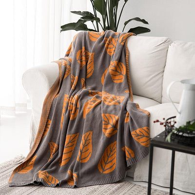 Cotton Winter Geometry Knitted Jacquard Soft Blanket