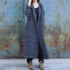 Plus Size - Double Breasted Pure Color Warm Overcoat