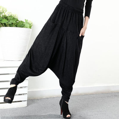 Plus Size - Loose And Comfortable Knit Harem Pants