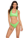 Solid Color Light Skin Vest Split Bikini Swimsuit