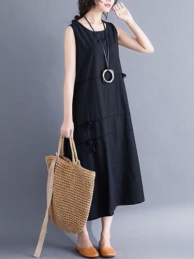 Casual Sleeveless A-line Long dress
