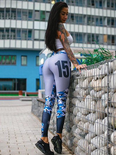Printed Sexy Sports Wrap Yoga Leggings
