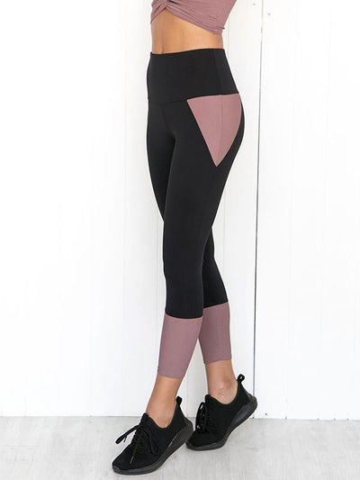 Patchwork Slim Sports Leggings