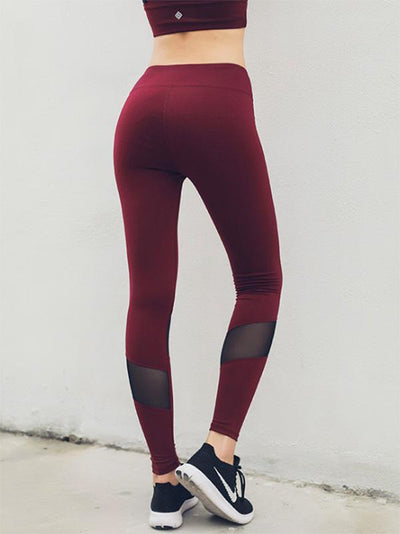 Mesh Insert Lift The Hips Yoga Leggings