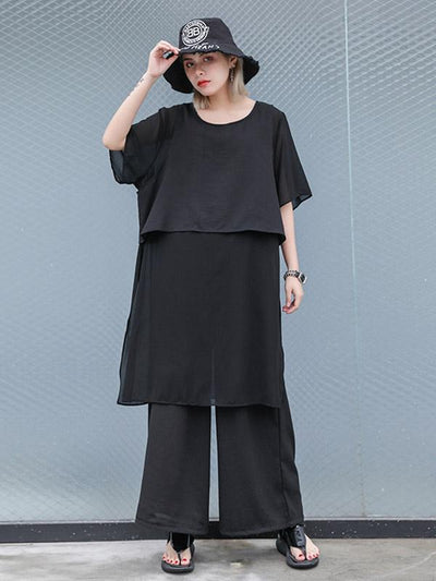 Casual Chiffon Split-side Suits