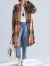 LOOSE LAPEL PLAID RETRO SHIRT